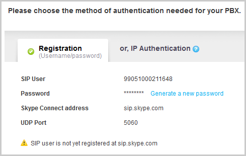 The profile's registration details displayed