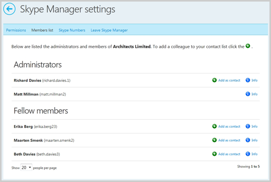 Skype Manager Settings