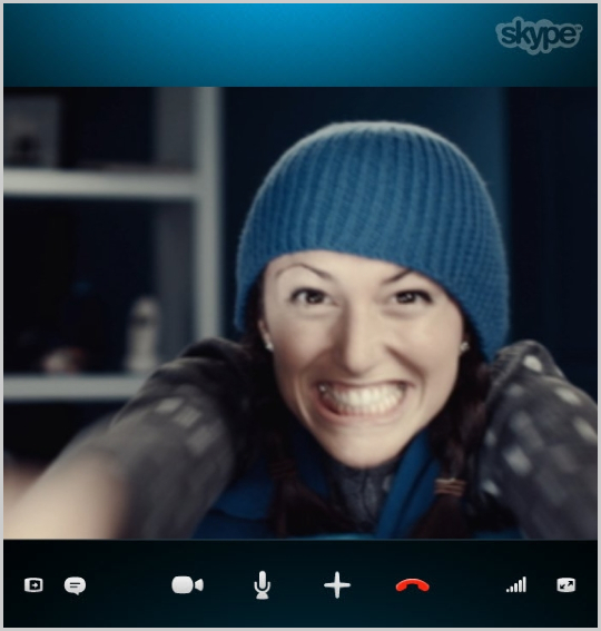 Skype with video call in progress