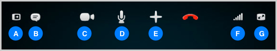 Video calling buttons