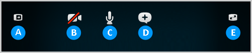 The options in the call bar.