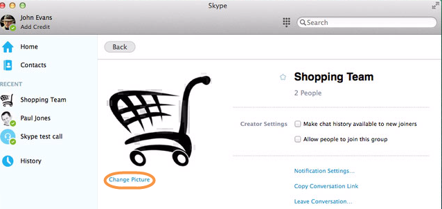 how to change the font size on skype mac