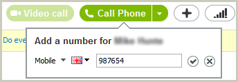 The number entered into the field after selecting the phone type and country flag.