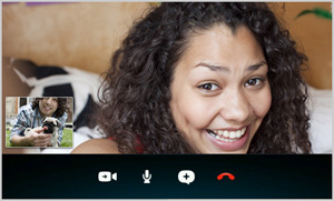 The Video call screen.