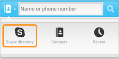 Skype directory selected under the text box