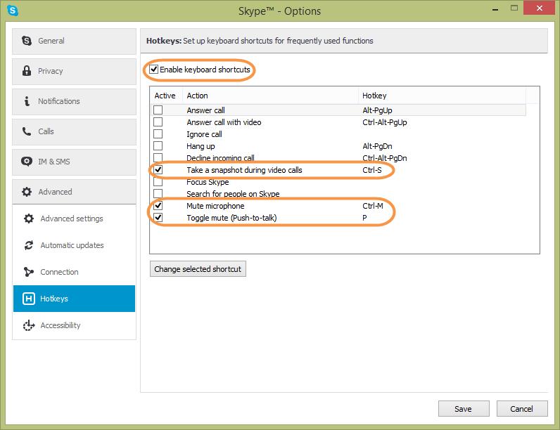 Cliquez sur change selected shortcut modifier le for Raccourci clavier changer de fenetre