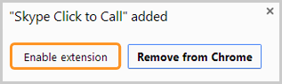 The screenshot displaying the highlighted Enable extension button.