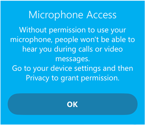 skype microphone access