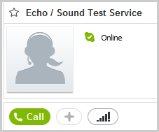 Green Call button in the calling pane