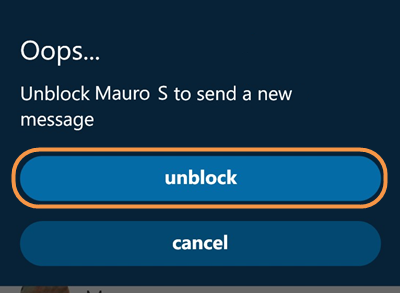 how to know if somebody blocks you on skype