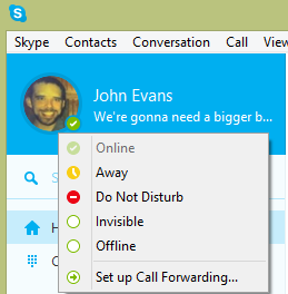 how to make your skype status blink
