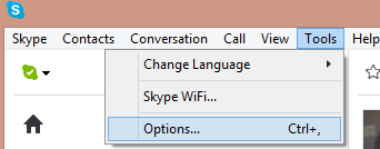 Options… selected from the drop-down menu displayed after clicking Tools in the menu bar.